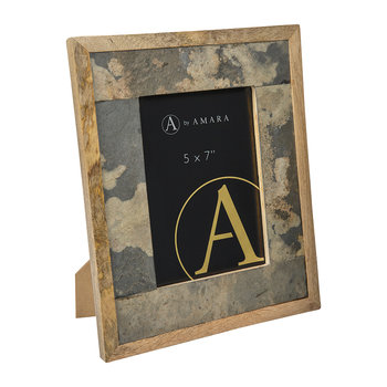 "Slate Veneer Photo Frame - 5x7"" - Grey"