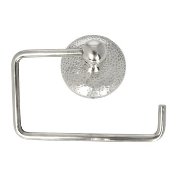 Mottled Toilet Roll Holder - Silver
