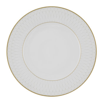 Prism Porcelain Dinner Plates - Set of 4 - Gold