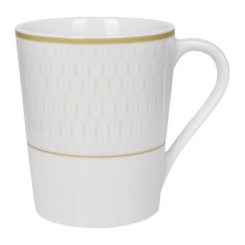 Prism Porcelain Mugs - Set of 4 - Gold