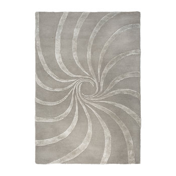 Spiral Hand Tufted Rug - Gray