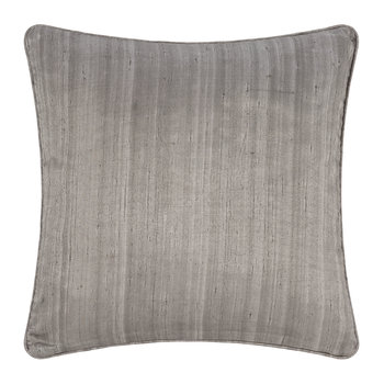 Silk Cushion - Silver - 45x45cm