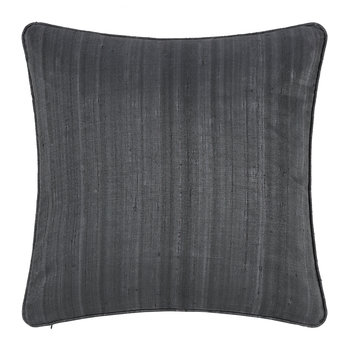 Silk Cushion - Gunmetal - 45x45cm