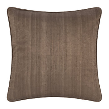 Silk Cushion - Mocha - 45x45cm