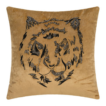 Velvet Animal Cushion - Tiger - 40x40cm