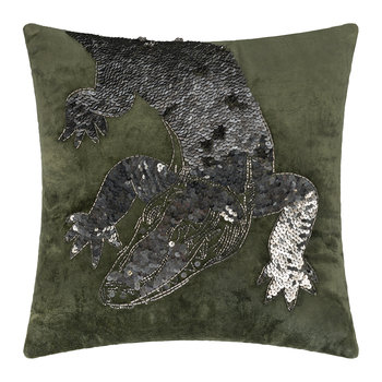 Velvet Animal Pillow - Crocodile - 40x40cm