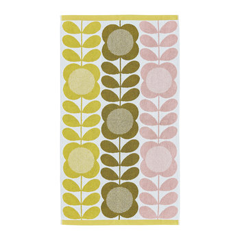 Summer Flower Stem Towel - Lemon Yellow