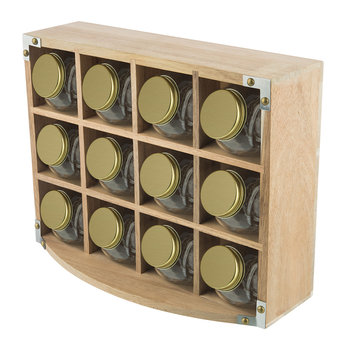 Acacia Wood Spice Rack