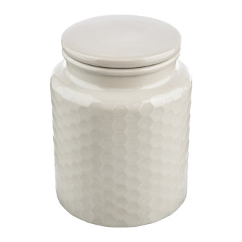 Honeycomb Embossed Gray Storage Canister