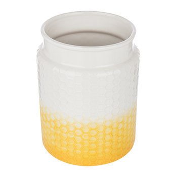 Honeycomb Embossed Utensil Pot - Yellow
