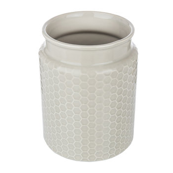 Honeycomb Embossed Utensil Pot - Grey
