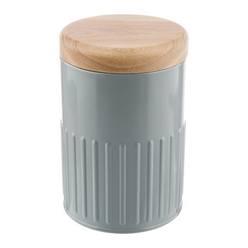 Grey Steel Storage Canister - 17cm