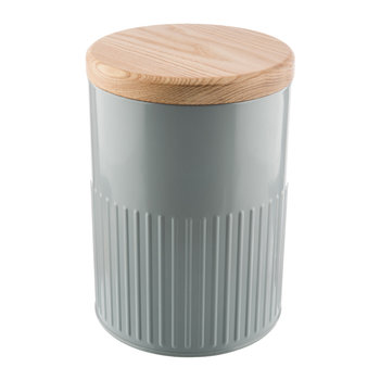 Gray Steel Storage Canister - 26cm