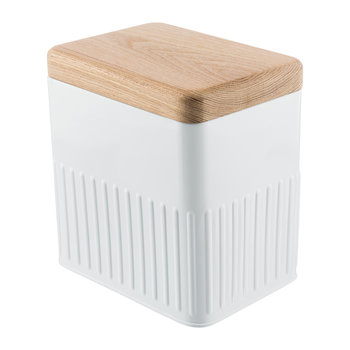 White Steel Storage Canister