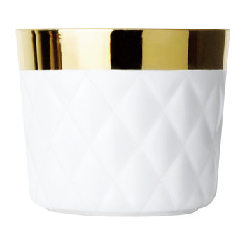 Sip of Gold Champagne Goblet - Pillow - White