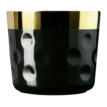 Sip of Gold Champagne Goblet - Moon - Black