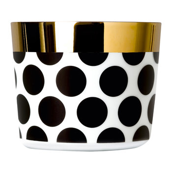 Sip of Gold Champagne Goblet - Black & White - Dots