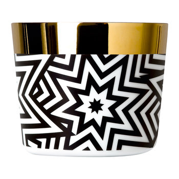 Sip of Gold Champagne Goblet - Black & White - Stars
