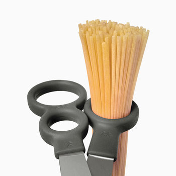 Kitchen Scissors with Integrated Spaghetti Measures - Gray