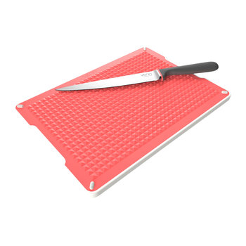 Chopping Board & Tray Set - Red