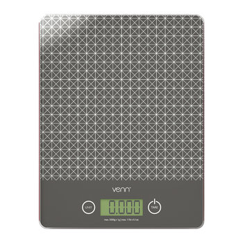 Digital Scales with Integrated Bowl Scraper - Gray
