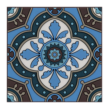 Set of 6 Coasters - Sejjadeh Azur