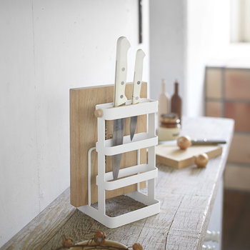 Tosca Knife & Chopping Board Stand - White