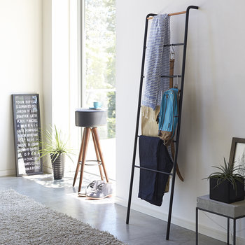 Leaning Ladder Storage Rack - Black