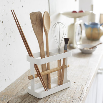 Tosca Utensil Stand - White