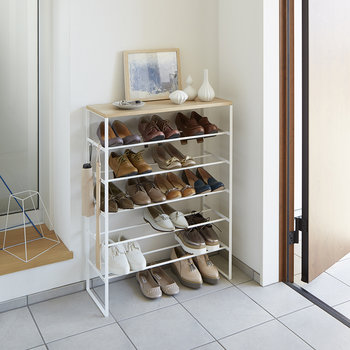 Tower Six Tier Shoe Rack - White