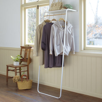 Tower Leaning Coat Rail - White