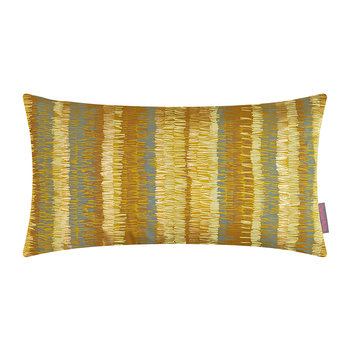 Textured Stripe Pillow - 30x50cm - Turmeric/Storm