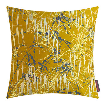 Three Grasses Pillow - 45x45cm - Turmeric/Storm/Lemon