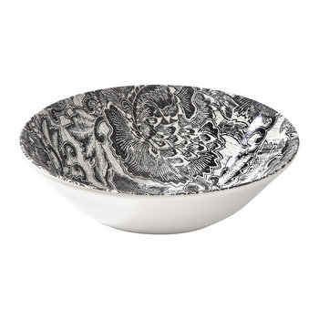 Faded Peony Cereal Bowl - Black