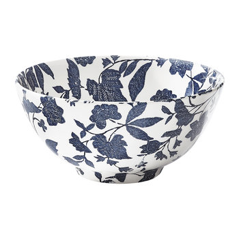 Garden Vine Serving Bowl - Indigo