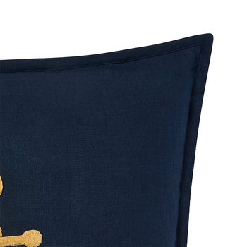 Carlea Pillow Cover - Navy/Gold