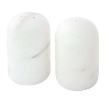 Marble Salt & Pepper Shakers - White