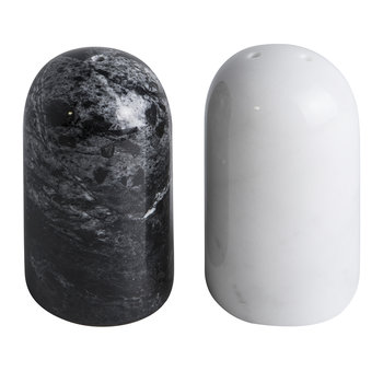Marble Salt & Pepper Shakers - Black/White