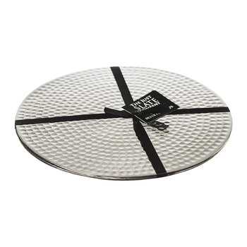 Flat Hammered Steel Placemats - Set of 2