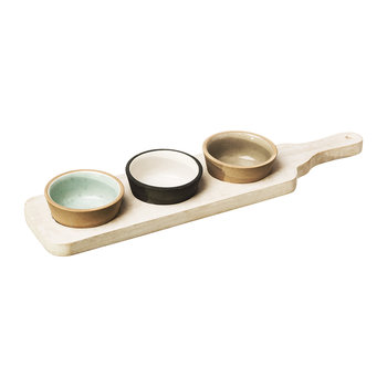 Stoneware Classics - Mango Wood Bowl and Paddle Set
