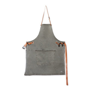BBQ Style Canvas Apron - Grey Green