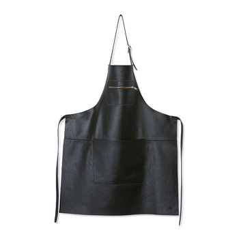 Zipper Style Leather Apron