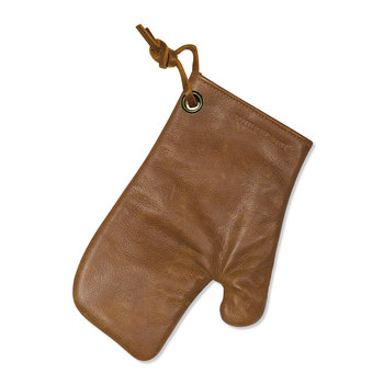 Leather Oven Glove - Vintage Camel