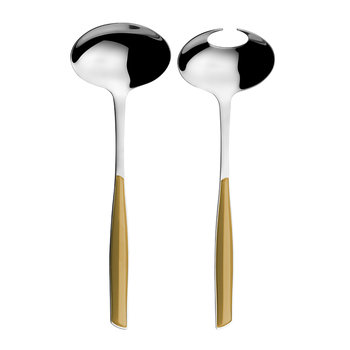 Glamour Salad Servers - Gold