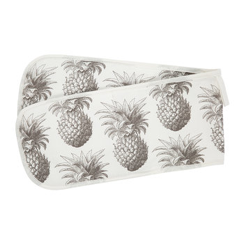 Pineapple Double Oven Gloves - Gray
