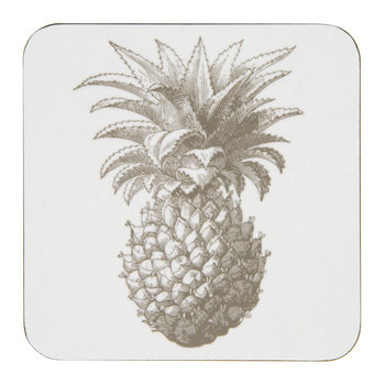 Pineapple Coasters - Gray - Set of 4