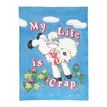 Magda Archer My Life Is Crap Tea Towel