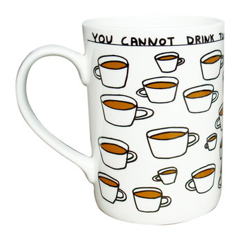 David Shrigley Too Much Tea Mug