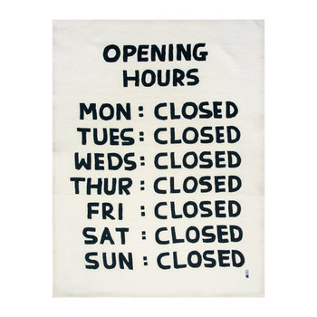 David Shrigley Geschirrhandtuch - Opening Hours