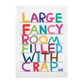 David Shrigley Tea Towel - Fancy Room